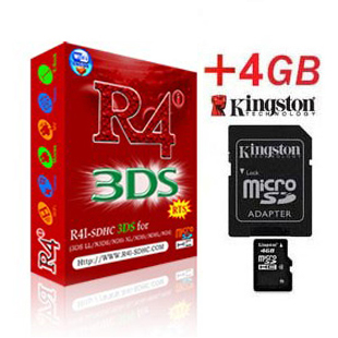 Carte R4i SDHC 3DS + Kingston Micro SDHC 4Go