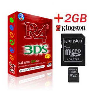 Carte R4i SDHC 3DS + Kingston Micro SD 2Go