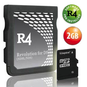 2 x Carte R4 DS Plus Kingston Carte Mémoire Micro SD 2Go