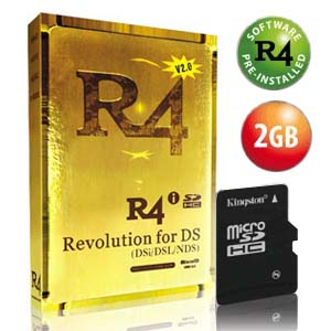 Carte R4i Gold pour DSi plus Kingston Micro SD 2Go