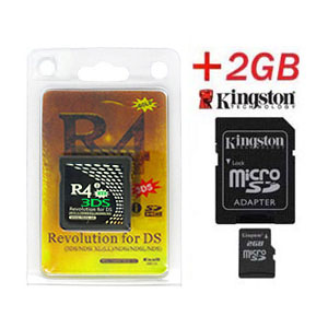 Carte R4i Gold 3DS + Kingston Micro SD 2Go