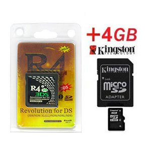 Carte R4i Gold 3DS + Kingston Micro SDHC 4Go