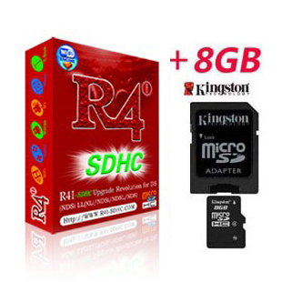 Carte R4i SDHC V1.4.5 pour DSi + Kingston Micro SDHC 8Go