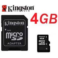 Carte mémoire Kingston Micro SDHC 4Go